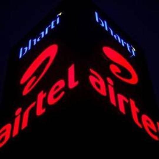 A Bharti Airtel office building is pictured in Gurgaon.