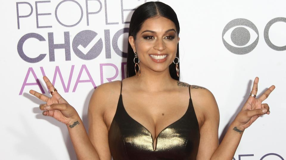 Internet personality Lilly Singh arrive at the People's Choice Awards 2017. (AFP)