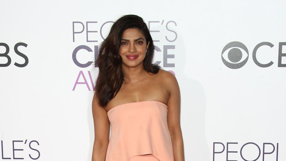 Quantico star Priyanka Chopra arrives at the People's Choice Awards 2017 at Microsoft Theatre in Los Angeles, California. (AFP)