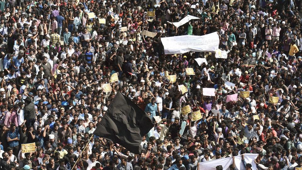 Jallikattu,Jallikattu ban protest,Tamil NAdu