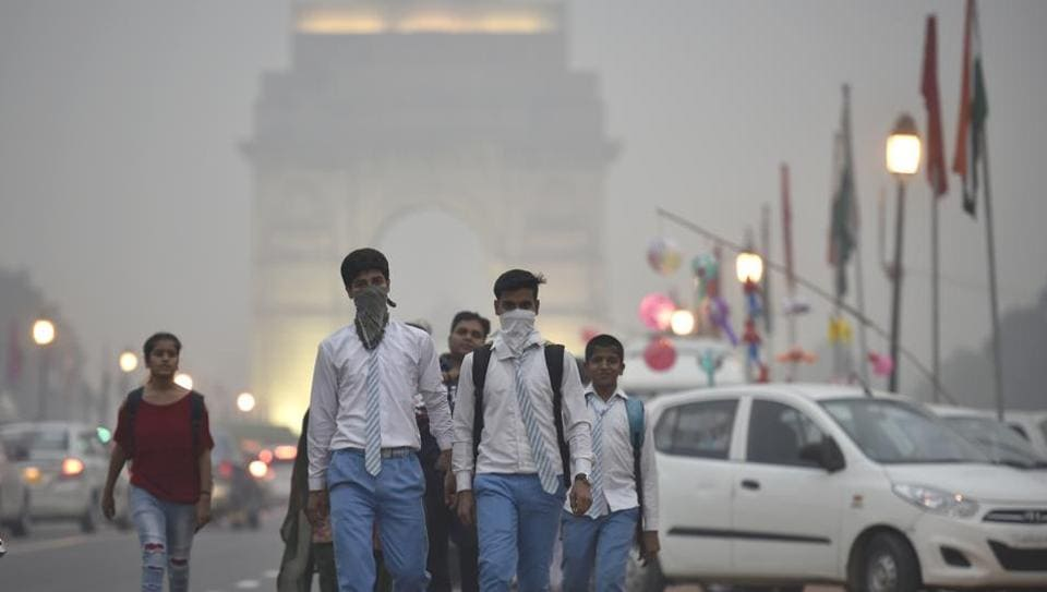 Delhi was enveloped by thick smog for days after Diwali.