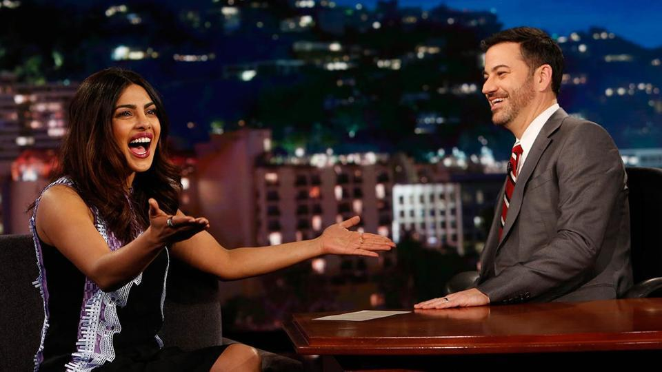 The show's host Jimmy Kimmel on Friday shared the news on Twitter that Priyanka Chopra was among the attendees on the show.
