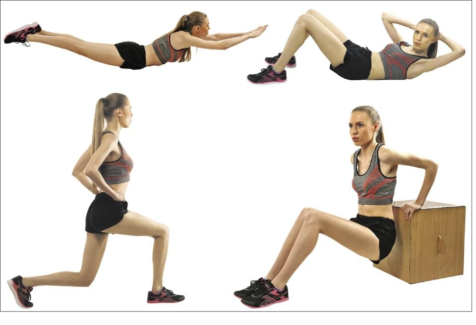 With these variations, women can strengthen their back, leg and abdominal muscles