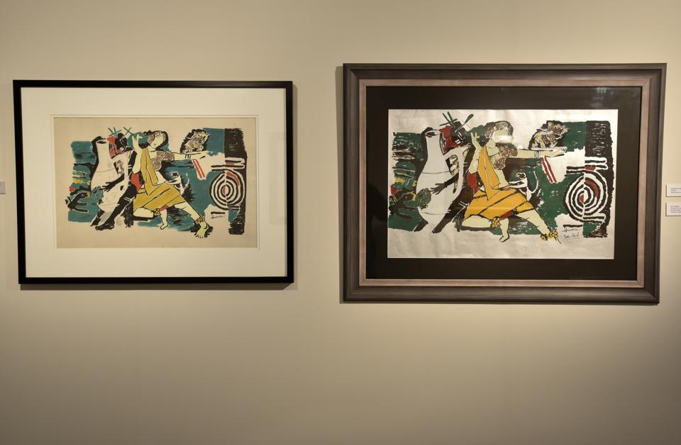 The Husain and faux Husain are on display at an exhibition titled Likeness Without Reference, at Mumbai's Piramal Museum of Art.