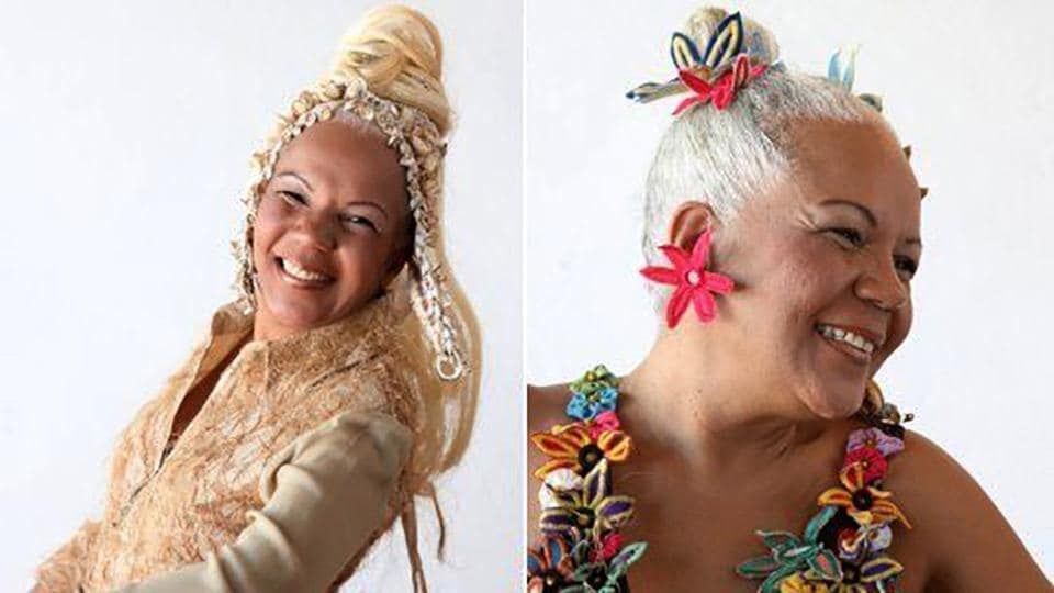 File picture released by PR Ana Gimenes shows singer Loalwa Braz (63) during a photo shoot on May 1, 2010.