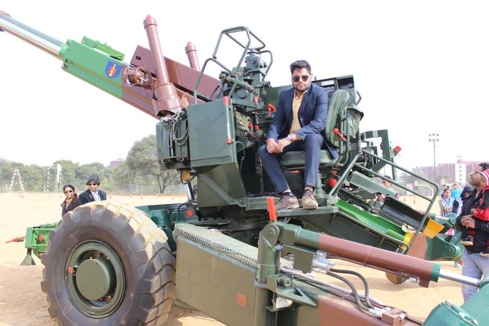 The 15mm Bofors Gun demonstrated at the venue was highly appreciated by the visitors to Amity University, Manesar, on Friday.