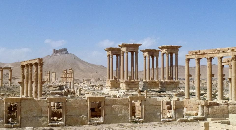 The ancient Syrian city of Palmyra, after government troops recaptured the UNESCO world heritage site from Islamic State (IS) group jihadists.