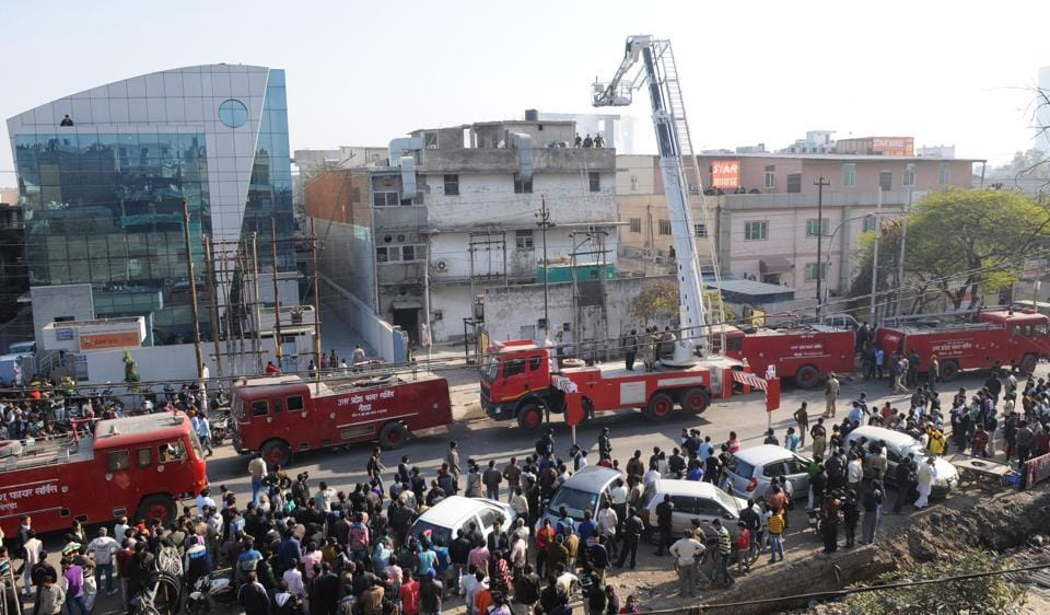 Noida factory fire,firefighters,Fire services