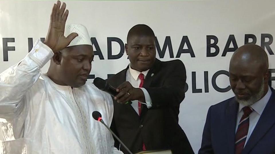 Gambia,New Gambian president sworn in,Senegal