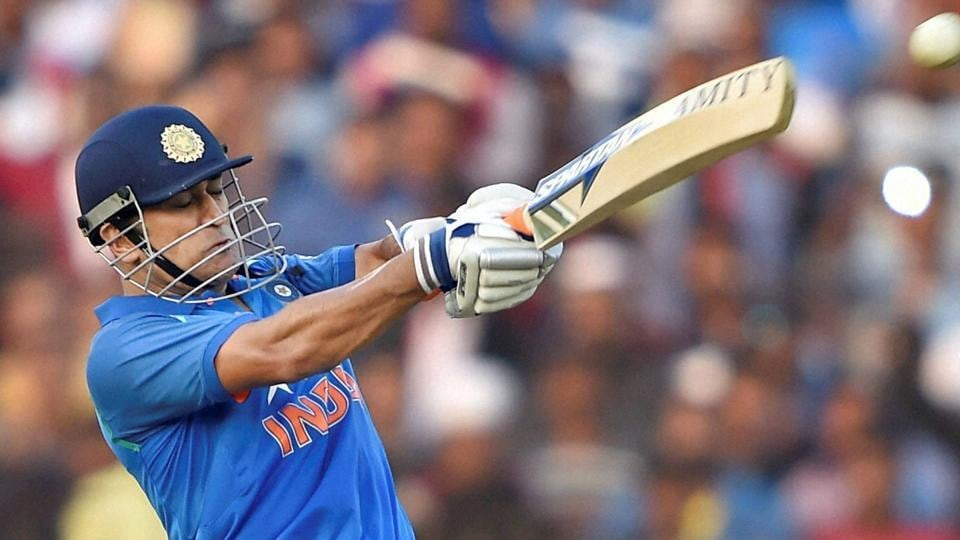 Mahendra Singh Dhoni notched up his 10th ODI century and first against England in the Cuttack ODI.