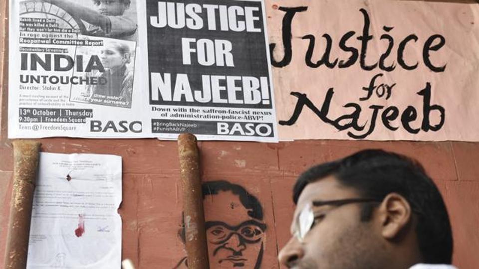 Najeeb Ahmed case,JNU student,CBI application