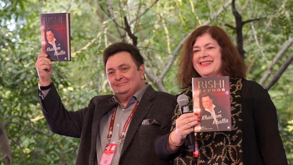 We bring you the best of the second day of the ongoing Jaipur Literature Festival. Here, Rishi Kapoor talks about his memoir Khullam Khulla during a session.  (Prabhakar Sharma/ HT photo)