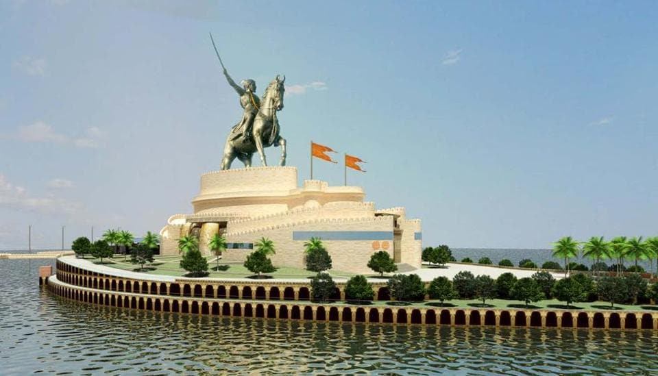 The mid-sea Chhatrapati Shivaji memorial involves building the world's tallest statue, surpassing the height of New York's Statue of Liberty and the Statue of Unity in Gujarat.