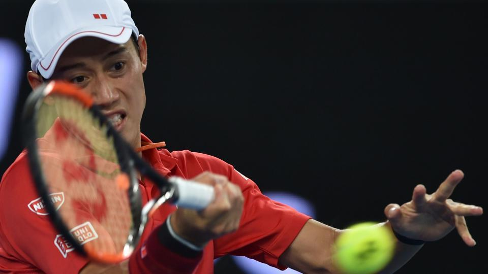 Kei Nishikori defeated Lukas Lacko 6-4, 6-4, 6-4 to reach the fourth round of the Australian Open.