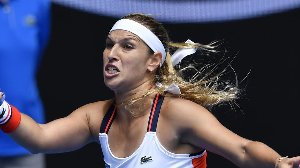 Dominika Cibulkova, the sixth seed, lost 2-6, 7-6 (3), 3-6 to Ekaterina Makarova in the third round of the Australian Open.