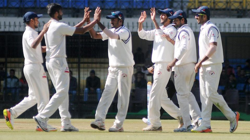 Chintan Gaja was the pick of the bowlers for Gujarat against Rest of India in their Irani Cup encounter.