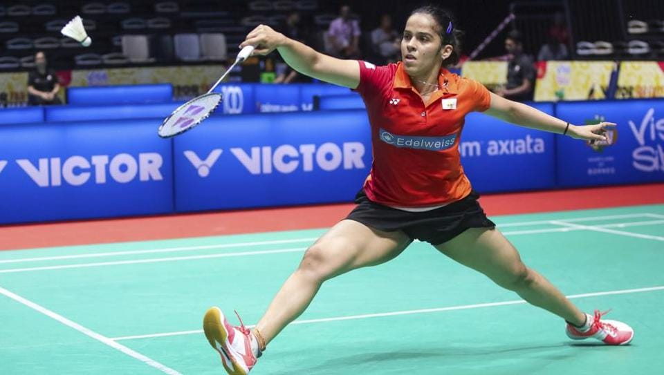 Saina Nehwal beat Yip Pui Yin 21-13 21-10 in a lop-sided semi-final clash to reach the Malaysia Masters final.