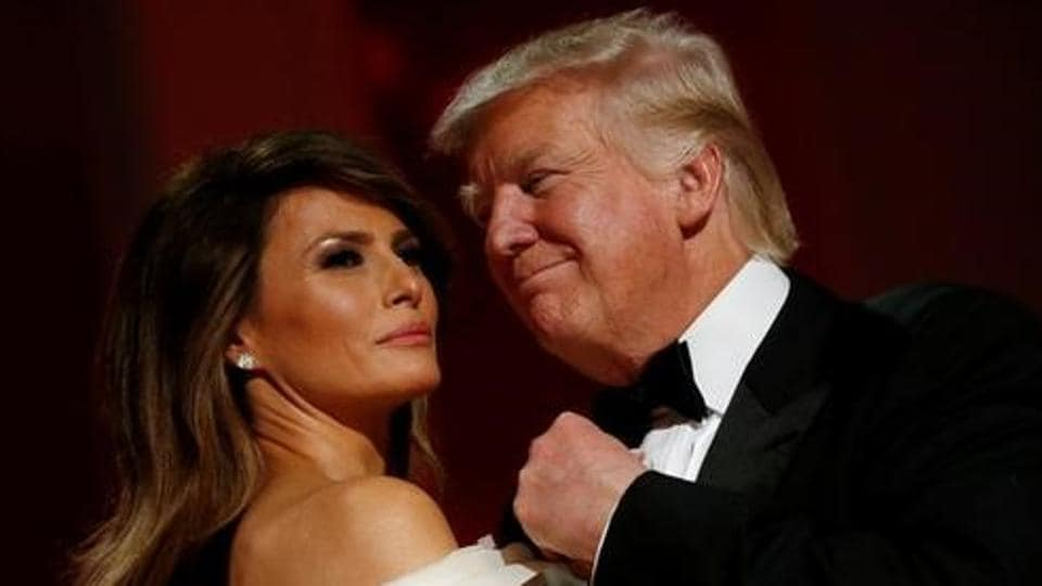 US President Donald Trump and first lady Melania Trump attend the Liberty Ball in honour of his inauguration in Washington, US.