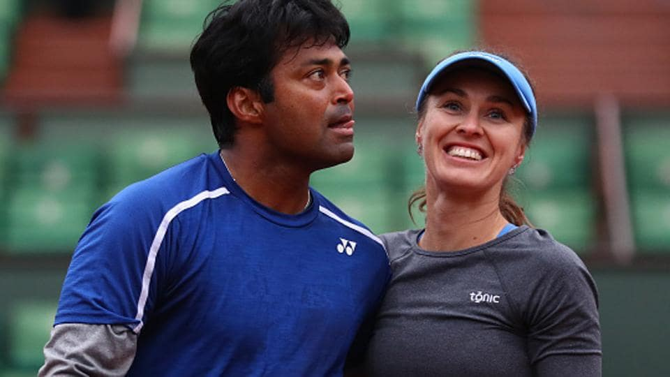 Leander Paes and Martina Hingis of Switzerland beat Australian pair of Marc Polmans and Destanee Aiava 6-4, 6-3 to enter the mixed doubles round of 16 at the Australian Open. Meanwhile, Sania Mirza and Barbora Strycova crashed out in the third round of the women's doubles event on Sunday.