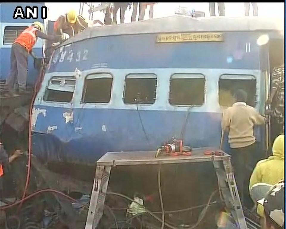 Railways on Sunday suspected that tampering of the track near Kuneru station led to the derailment of nine coaches of Jagdalpur-Bhubaneswar Express in Vizianagaram district of Andhra Pradesh.