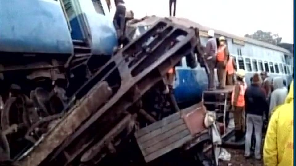 Seven coaches and the engine of Jagdalpur-Bhubaneswar Expressed derailed in Vizianagaram district of Andhra Pradesh on Jan 22.