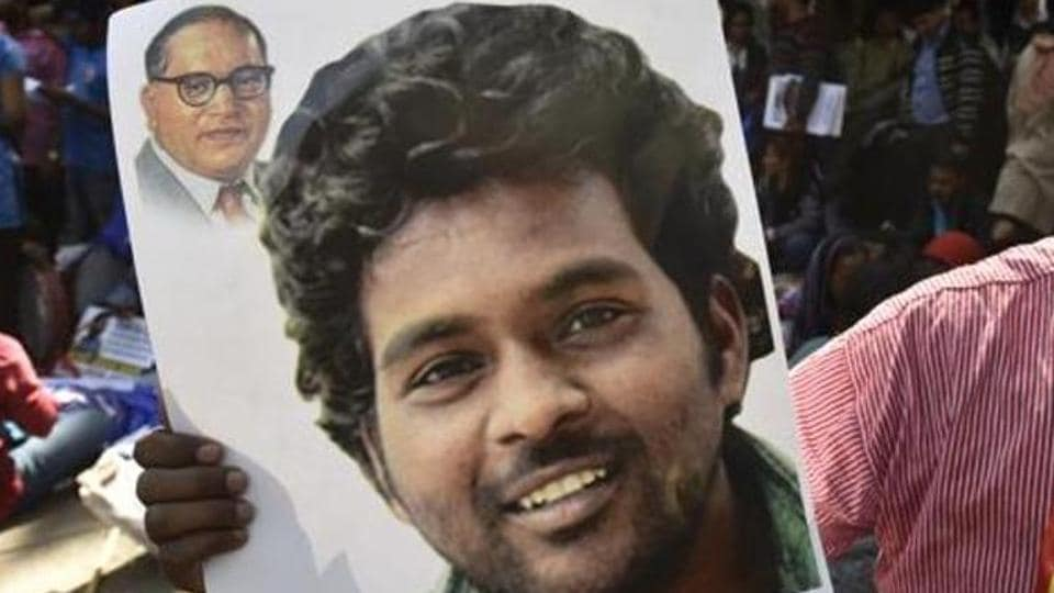 Rohith Vemula, who was suspended from the university over a political dispute, committed suicide by hanging himself on January 17 last year