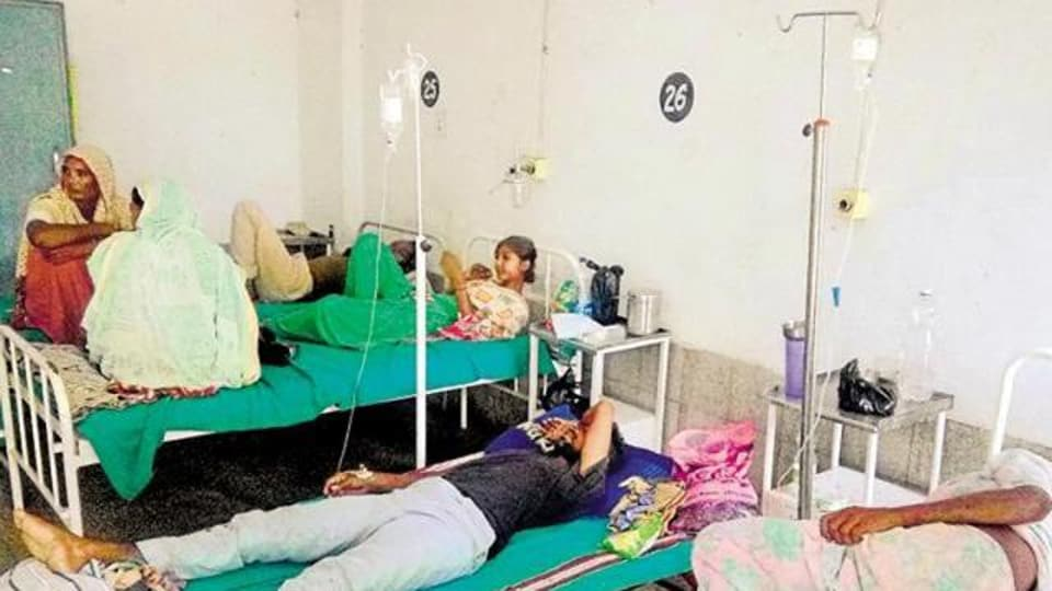 Health officials said a total of 254 diarrhoea cases have been examined by the doctors at the mobile health van in Sector 18. Of these 150 cases were reported on Saturday and 104 on Friday.