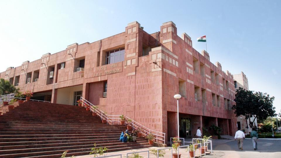 Administrative office of Jawaharlal Nehru University, in New Delhi.