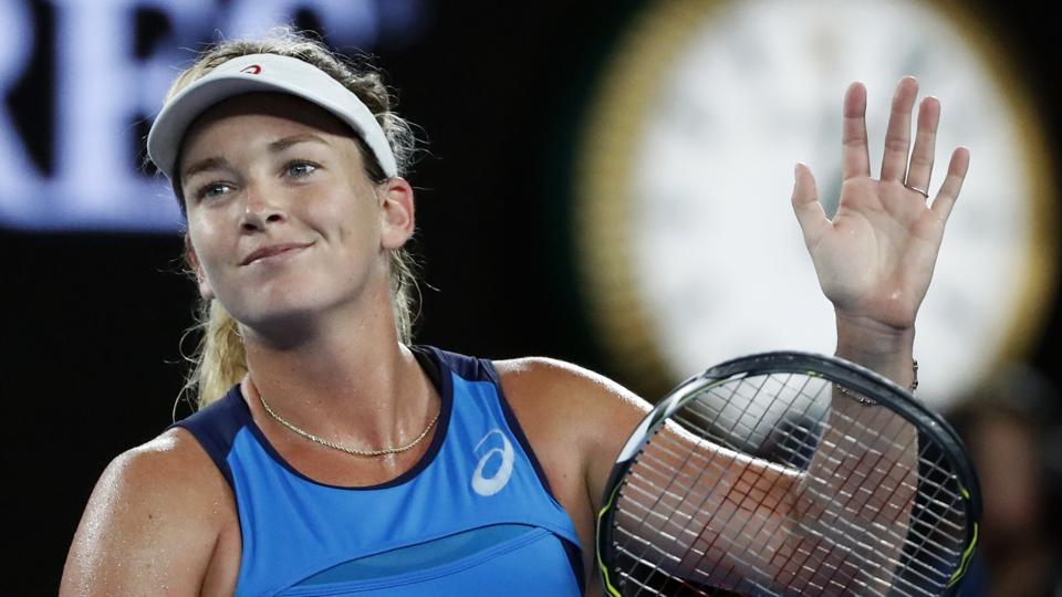Coco Vandeweghe caused the second upset of the day when she thrashed reigning champion and top-seed Angelique Kerber 6-2, 6-3 to advance to her first Australian Open quarter-finals. (AP)
