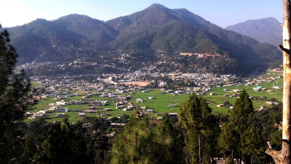 Bageshwar, India - Jan 11 :: A view of Bageshwar in Uttarakhand, India./HT Photo