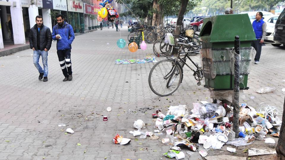 Image result for garbage sector 17 chandigarh