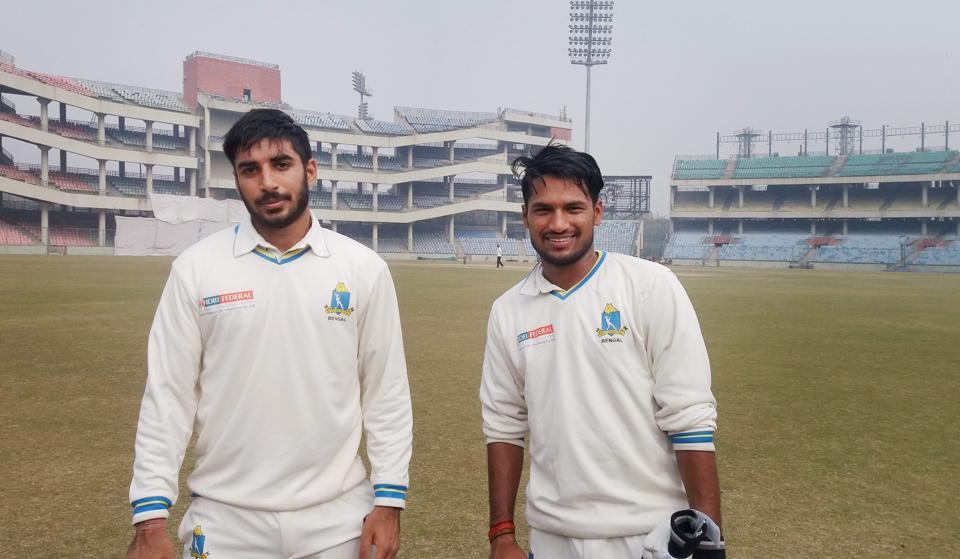 Kanishk Seth and Saurabh Singh after helping Bengal defeat Delhi in Cooch Behar Trophy final.