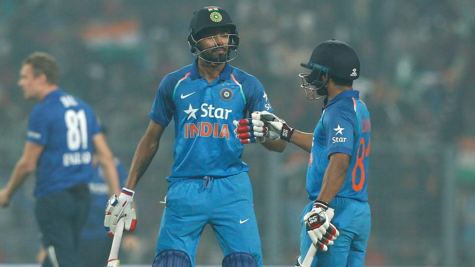 Kedar Jadhav and Hardik Pandya smashed 50s but India fell short by five runs as England clinched a last-ball thriller to avoid getting clean swept 3-0.