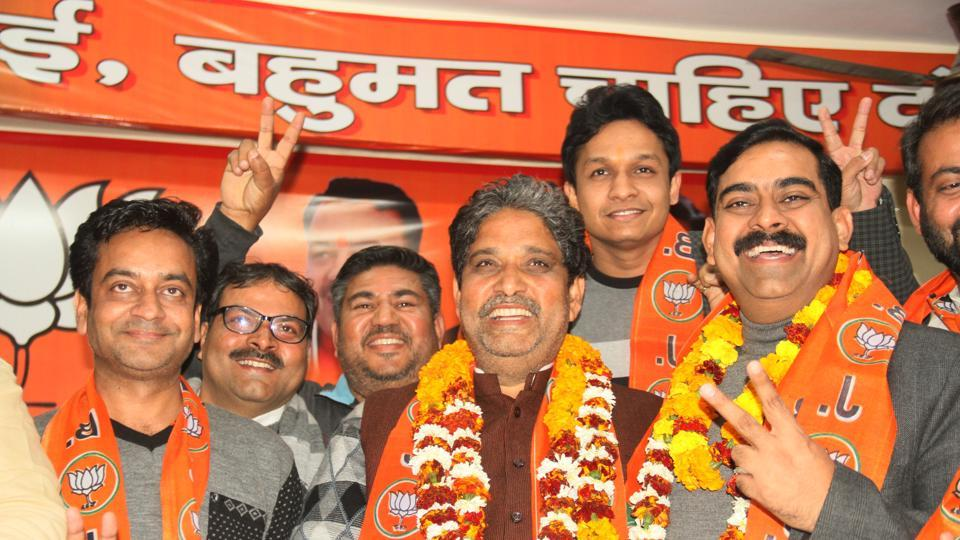 Former MLA Sunil Sharma will contest from Sahibabad constituency.