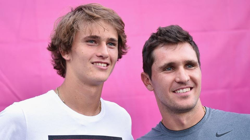 Alexander Zverev (left) and brother Mischa Zverev are just one of the 10 sets of brothers and sisters playing at this year's Australian Open.