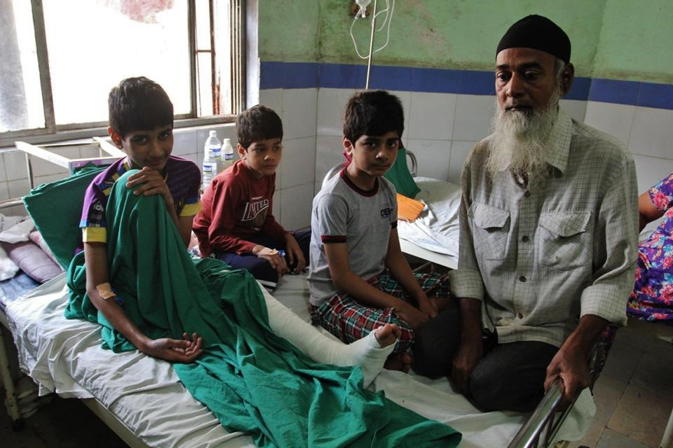 Of the three children, Raiyaan,15, Aiyaan,12, and Mohiya,10, the eldest is being treated for a broken leg while his siblings are malnourished and unable to walk properly after being confined in the 450 square metre shanty for six years