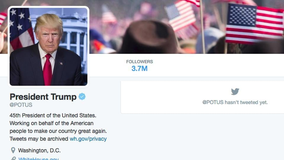 Donald Trump,@POTUS,Jack Dorsey