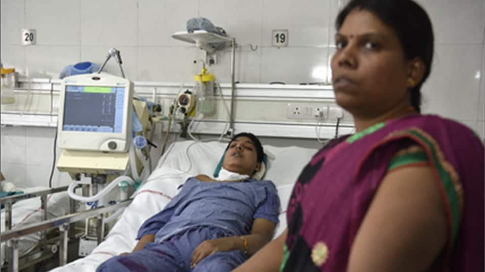 Rohit Kumar has been admitted to the AIIMS neurosurgery ward for over a year, in New Delhi.