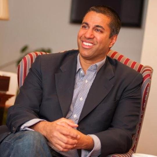 Ajit Pai, who was named to the Federal Communication Commission by former president Barack Obama, served in several positions in the department of justice and the US Congress.