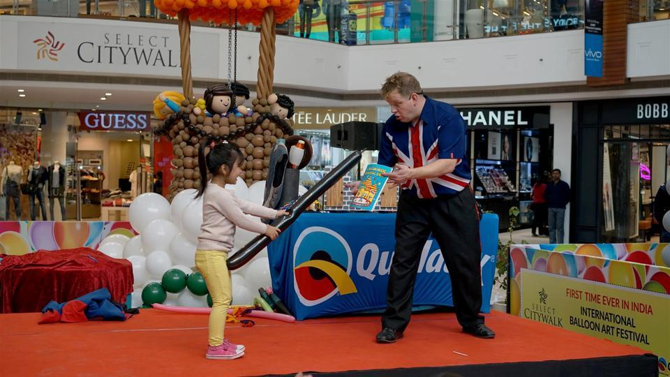 The festival was organised in partnership with Qualatex, a balloon manufacturer company known for making 100 percent eco-friendly balloons. (Select City Walk)