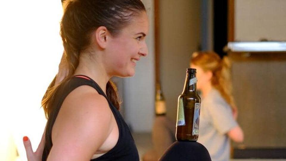 beer yoga,Yoga trend,BierYoga