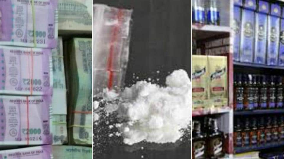 Police have recovered huge quantities of drugs, liquor, cash in poll bound Punjab.