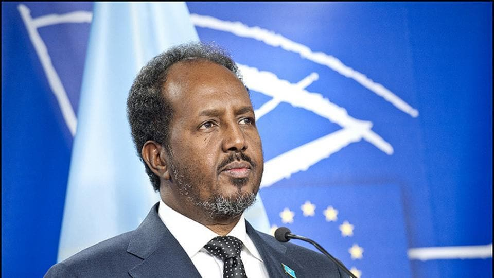 Hassan Sheikh Mohamud,Somaina President,Indian government
