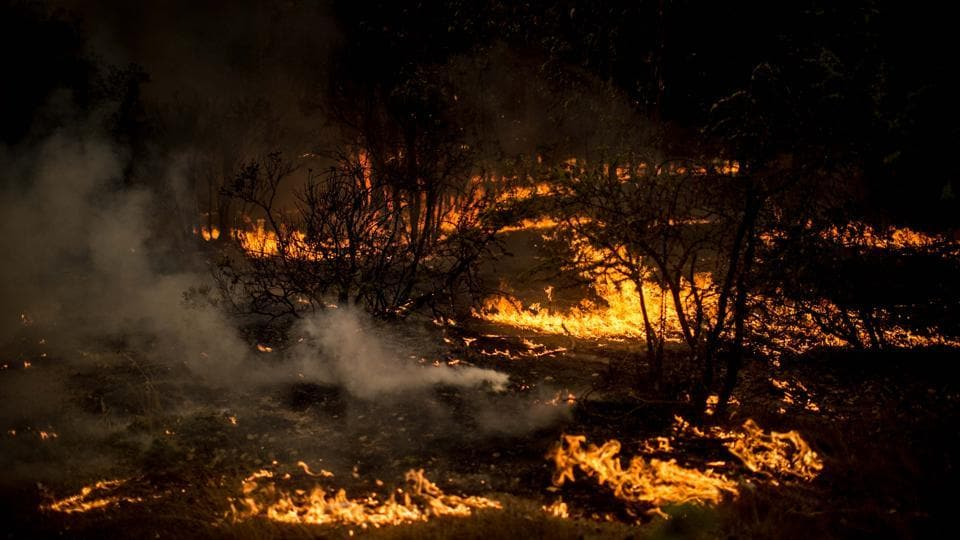 Some 30 homes were affected in Cardenal Caro and Colchagua provinces, Chile's National Emergency Office (ONEMI) said. (Martin Bernetti/AFP)