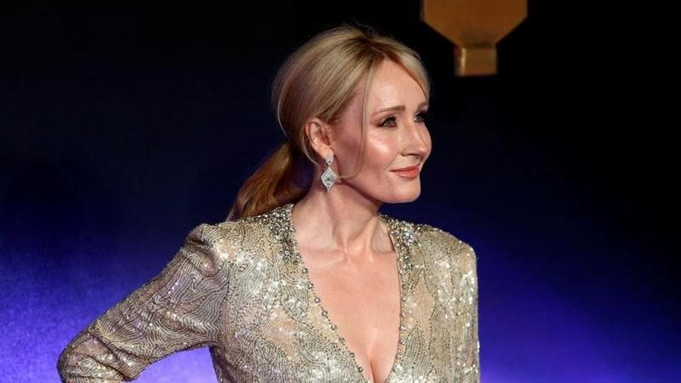 Writer J.K. Rowling poses as she arrives for the European premiere of the film Fantastic Beasts and Where to Find Them at Cineworld Imax, Leicester Square in London.