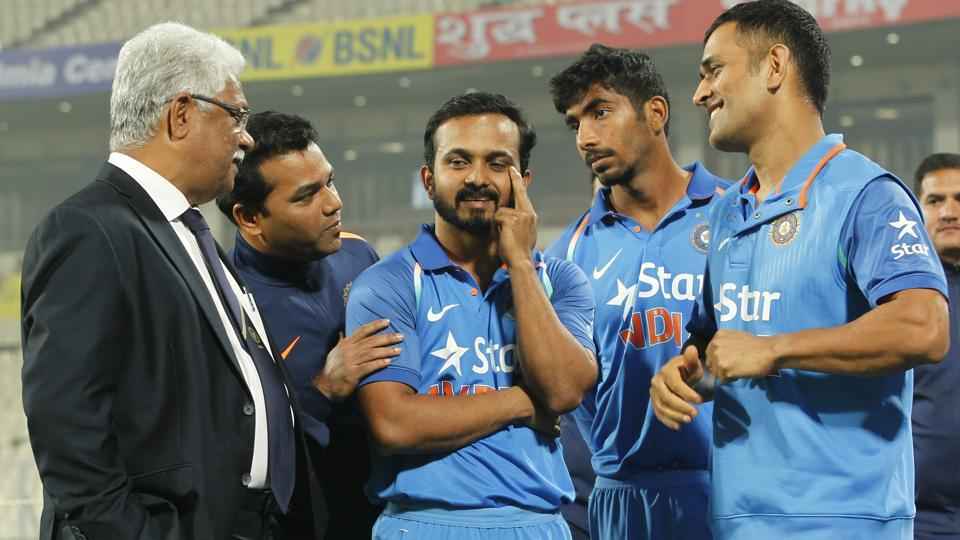 Kedar Jadhav was adjudged the man-of-the-series for his 232 runs in the three matches. (BCCI)
