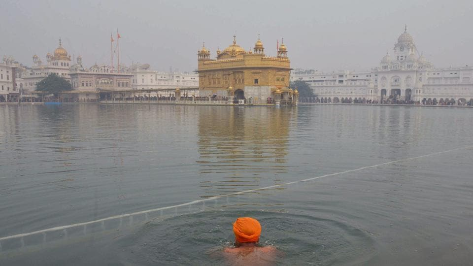 A Delhi resident was arrested on Monday for tearing pages of the holy book inside the Golden Temple in Amritsar.