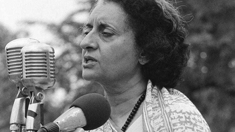 Former Prime Minister Indira Gandhi (1917-1984) declared India to be in a state of emergency, allowing her to jail her political opponents in 1975.