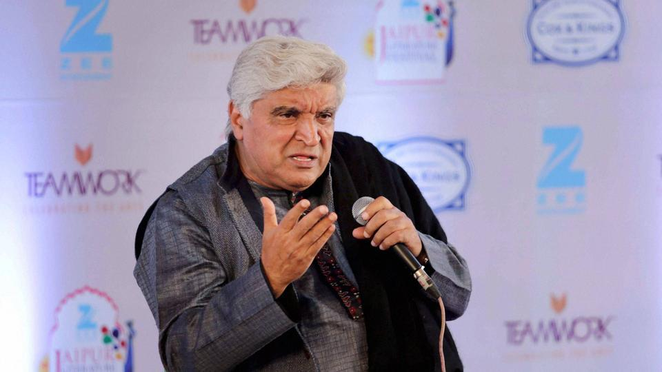 Lyricist Javed Akhtar speaks during a session at the Jaipur Literature Festival. (PTI)