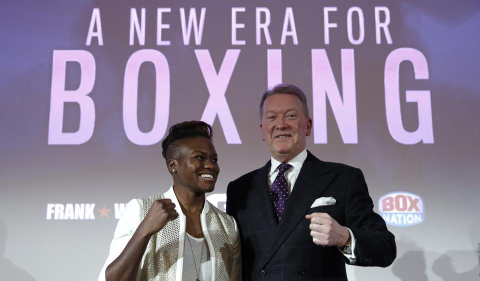 Nicola Adams and Frank Warren after the former announced that she would turn a pro boxer.